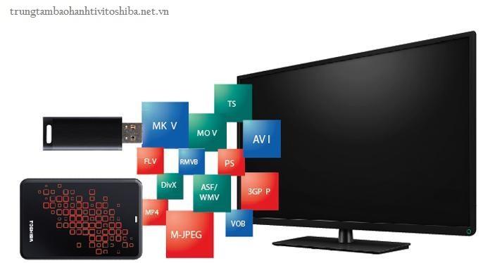 những kết nối trên tivi Toshiba